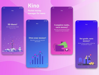 Kino - A digital pocket money manager for teens(onboarding)