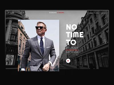 No Time To Die Header desktop web design play cinema europa hero header movie agent 007 james bond bond james