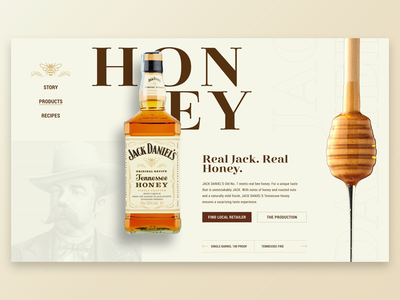 Jack Daniel's® Tennessee Honey | Landingpage user interface ui design jack daniels typogaphy freelance designer webdesign ux graphic design ui landingpage