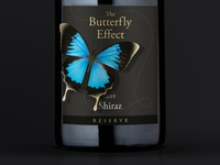 The Butterfly Effect Reserve Shiraz butterfly branding design photoshop packaging wine label design wine label graphic design
