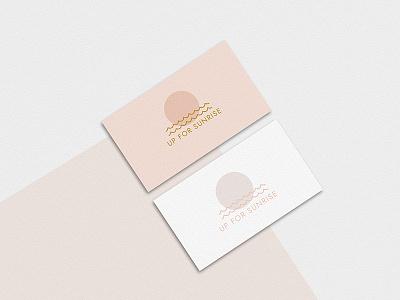 Up For Sunrise Minimalist Logo rose-gold gold minimalist-logo subtle pink sun logo-design elegant feminine logo minimalist minimal