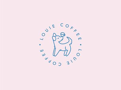 LOUIE COFFEE coffee playful branding logo dogs dog young youthful