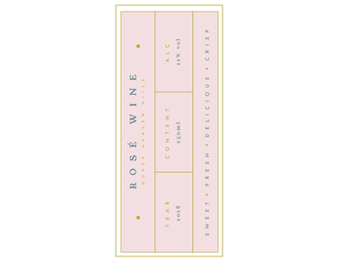Rosé Wine Label classic feminine pretty pink rosé can wine packaging labels label