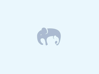 Elephant & Baby Logo