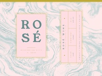 Rose Wine Can Design
