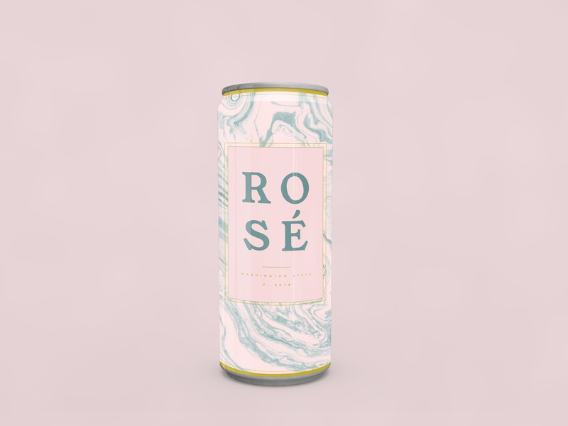 Rosé packaging package gold rosé rose gold rose can pink marbled wine marble textures
