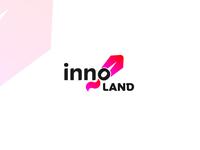 Innoland - innovation and start up center logo concept
