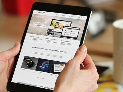Enfold wordpress theme website ipad retina