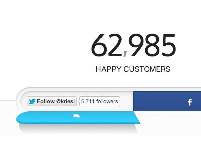 Kriesi.at Follow/Share Button button concept kriesi web design twitter facebook