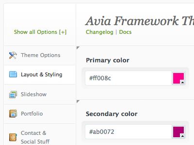 Avia Framework admin ui framework backend theme wordpress website design