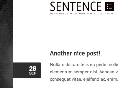 Sentence WordPress Theme Preview