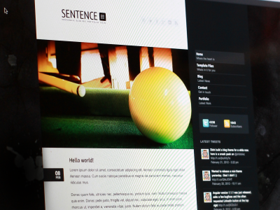 Sentence WordPress Theme Photo wordpress layout web design logo responsive typography minimal photo