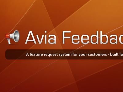 Avia Feedback Box design website wordpress plugin logo banner head