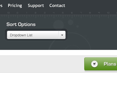 Aviathemes button menu dropdown web design