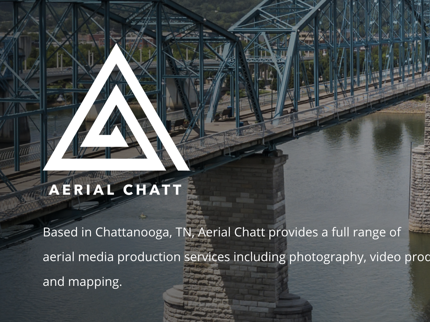 Aerial Chatt grid logo triangle design wordpress chattanooga pilot aerial drone