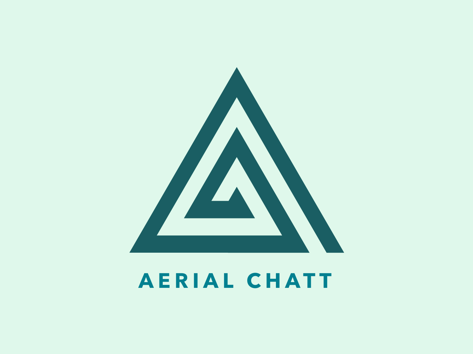 Aerial Chatt Logo teal green geometric grid triangle logo aerial