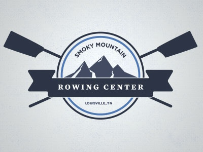Smoky Mountain Rowing Center smoky mountain rowing oars badge stamp banner