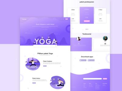 Yoga Web landing page design website design web design website webdesign ui ux vector illustration design