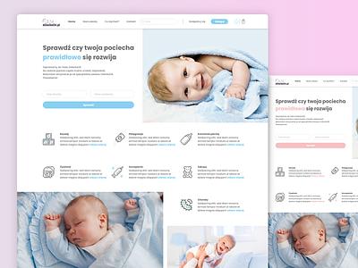 Baby - website user inteface userinterface color change web design webdesign user experience website ux ui design