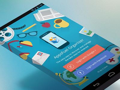 AppsFuel Organizer - Login login page oauth facebook google desk mobile
