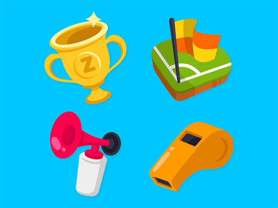 Zenly World Cup Emojis 1/2 whistle air horn corner flag app zenly soccer football emoji cup world
