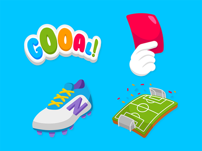 Zenly World Cup Emojis 2/2 field shoe penalty red card goal soccer football icon emoji cup world
