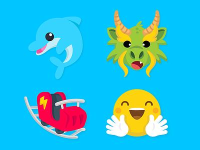 Zenly Emojis 1 hug park amusement roller coaster dragon aquarium dolphin zenly icon emoji