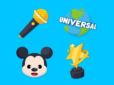 Zenly Emojis 2 award disney mickey mouse world studio universal microphone zenly emoji icon