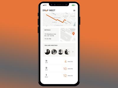 Map for Drop Meet typography web apps graphic design digital design daily ui ui design