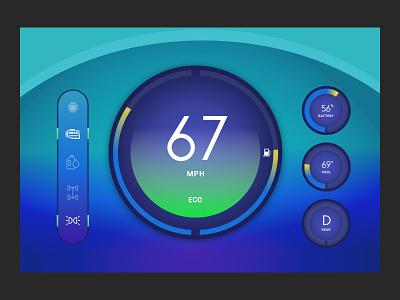 Car Interface typography color graphic design digital design daily ui ui design