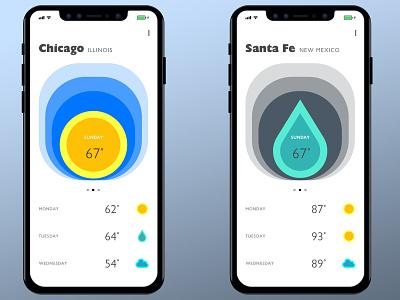 Weather App typography color graphic design digital design daily ui ui design
