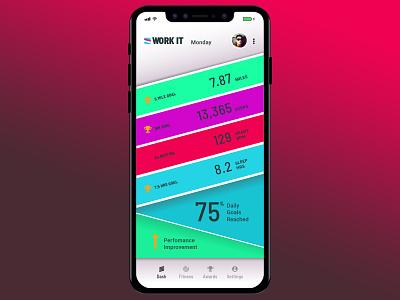 Workout Tracker icon logo design typography color digital design daily ui ui design