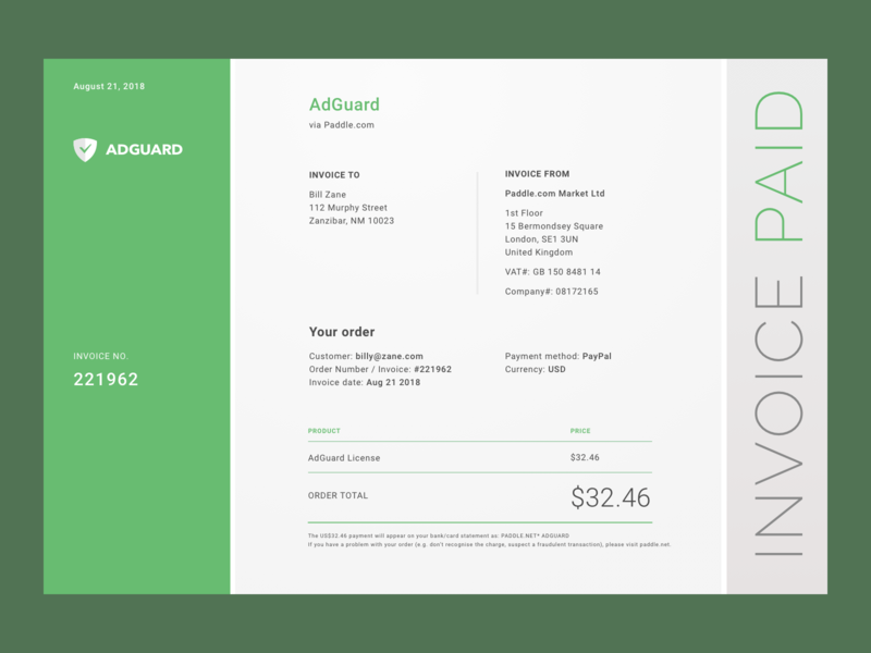 Invoice Ui By Michael Cullinan On Dribbble