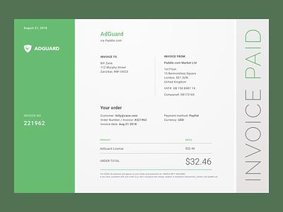 Invoice UI web apps color digital design daily ui ui design