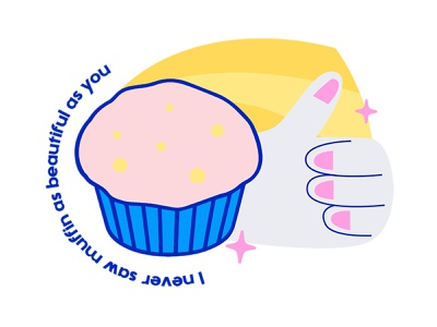 Ateliê 52 - Illustration draw vector illustration vector art vector illustrations visual identity identity branding cute illustration design muffins bakery muffin illustration design