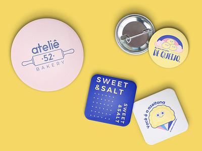 Ateliê 52 - Stickers visual identity identity branding identity design identity cute illustration design illustration art candy sweety sweet vector illustration draw brand branding design