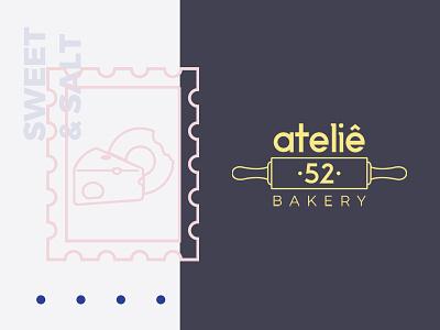 Ateliê 52 - Logo bakery logo bakery sweet branding identity logodesign brand branding design logo design logotype vector brand identity logo graphic design illustration art branding design