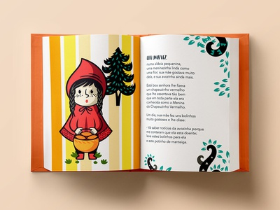 Little Red Riding Hood - Book illustration illustrate little red riding hood child kids book editorial