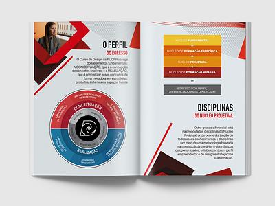 Institutional Material - PUCPR design university pucpr booklet folder institutional institutional material book editorial