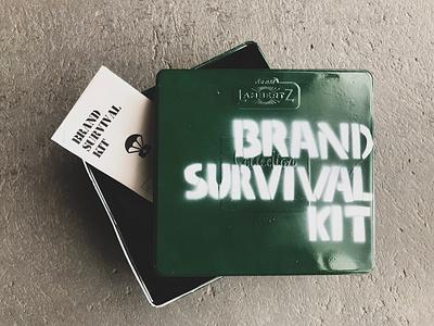 Brand Survival Kit press kit army brand branding packagedesign package design