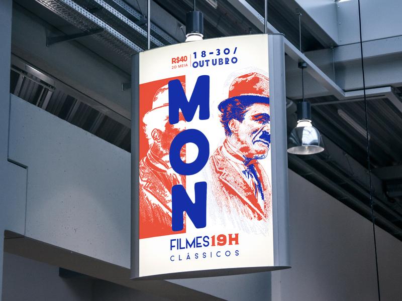 MON Classic Films Festival event branding event branding design films film festival branding poster illustration design