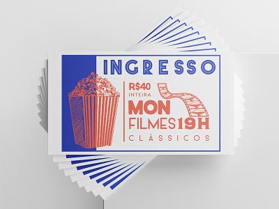 MON Classic Films Festival event branding film festival films festival branding illustration design