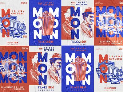 MON Classic Films Festival mon event branding films film festival branding illustration poster design