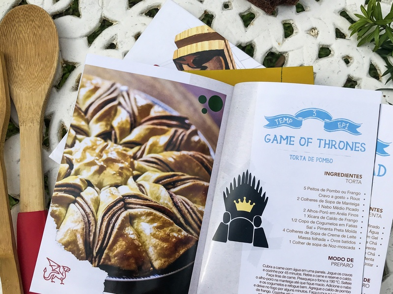 Series Cookbook series gameofthrones got game of thrones publishing series cookbook recipe book recipe cookbook editorial draw illustration vector design