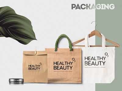 Healthy Beauty - Packaging graphic design sustainability sustainable package design packaging package brand identity branding brand design