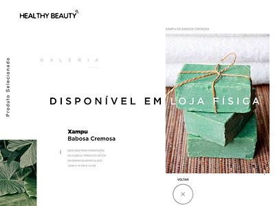Healthy Beauty - Website sustainability sustainable soap uiux ux ui web design website design site website product design product brand identity branding brand design