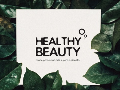 Healthy Beauty - Logo brand identity graphic  design green sustainability sustainable logo design logo brand design branding brand graphic design graphic design