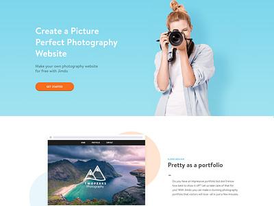 Photographer Landing Page jimdo photographer landing page design seo
