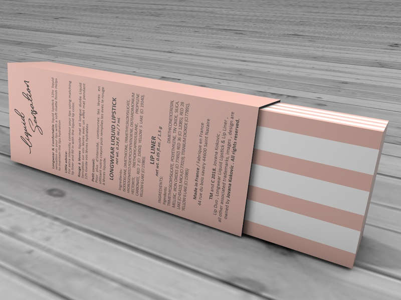 3D Model of the box for makeup mockup branding. illustration branding printing photoshop graphic design product design product box design 3d