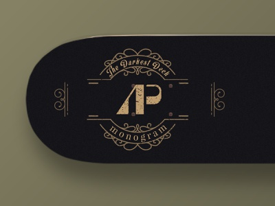 A+P Monogram classic old vintage grid app illustration logodesign monogram branding design logo